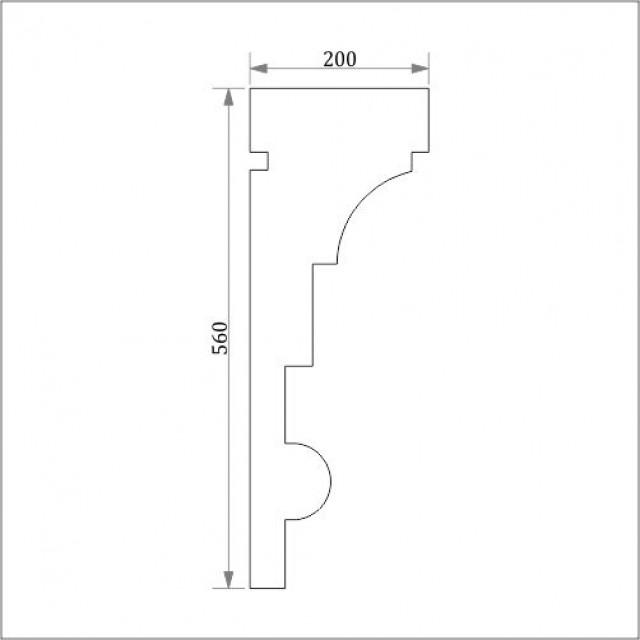 Фасадный карниз ФК10 Н 560х200
