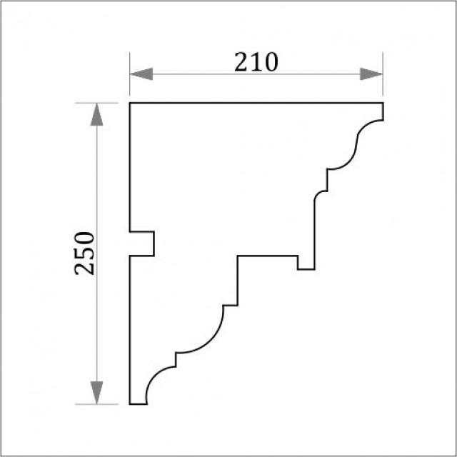 Фасадный карниз ФК13 Н 250х210