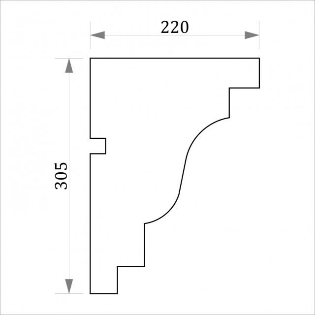 Фасадный карниз ФК15 Н 305х220