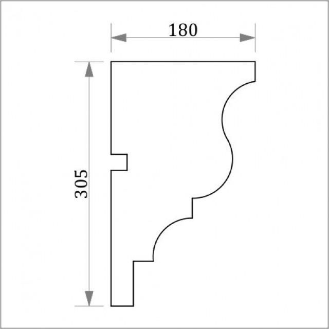 Фасадный карниз ФК17 H 305x180