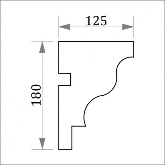 Фасадный карниз ФК18 Н 180х125