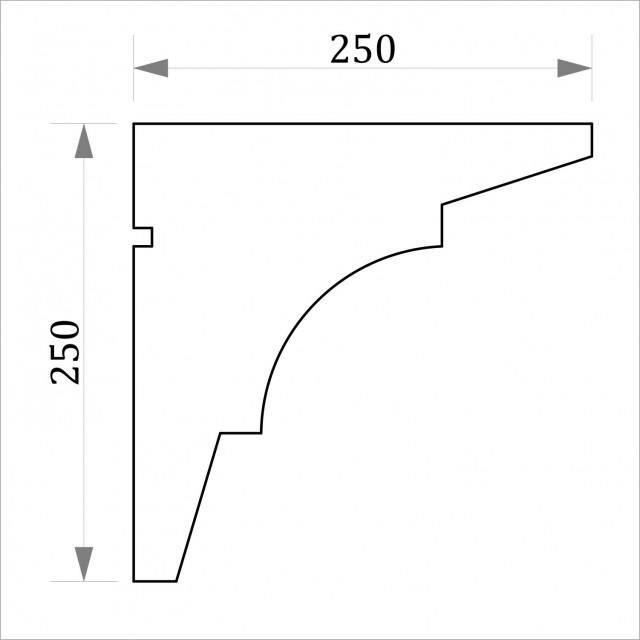 Фасадный карниз ФК27 H 250x250