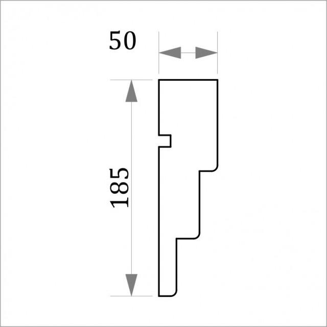 Фасадный карниз ФК4 H 185x50