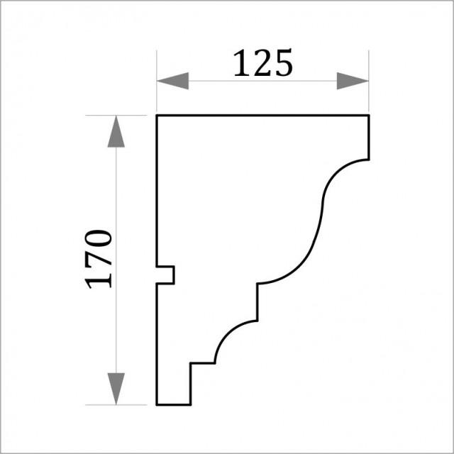 Фасадный карниз ФК-6 H 170x125