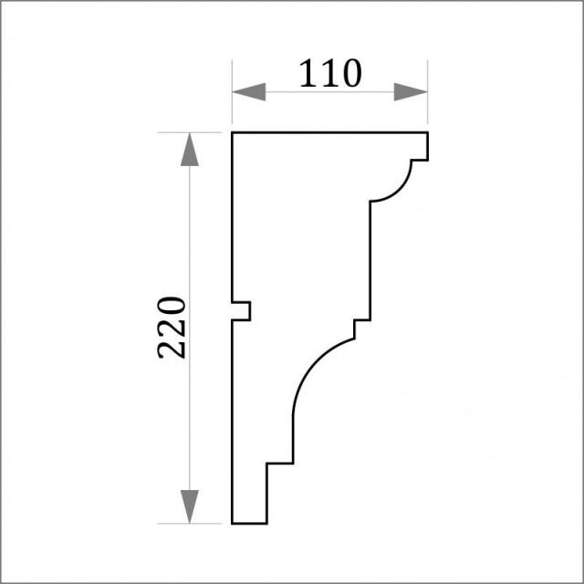 Фасадный карниз ФК8 H 220х110