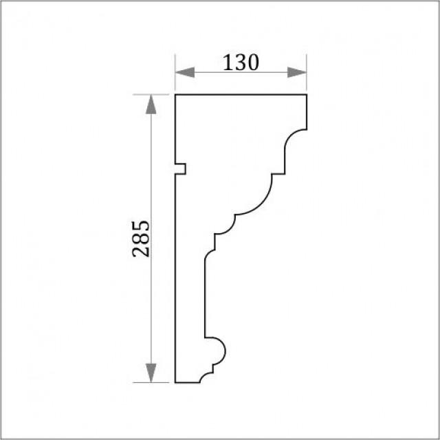 Фасадный карниз ФК9 Н 285х130