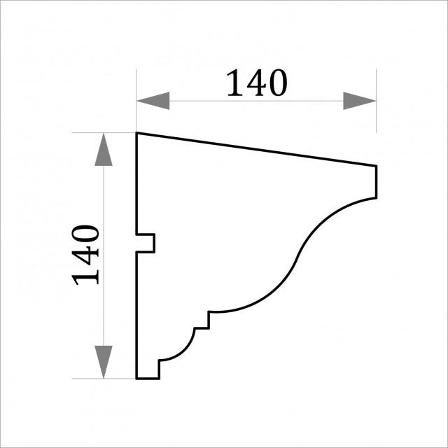 Фасадный молдинг ФТ10 Н 140х140