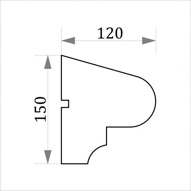 Фасадный молдинг ФТ12 Н 150х120