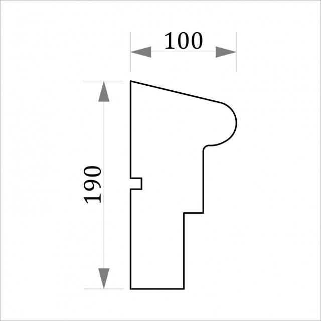 Фасадный молдинг ФТ14 Н 190х100