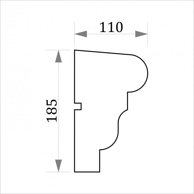 Фасадный молдинг ФТ15 Н 185х110