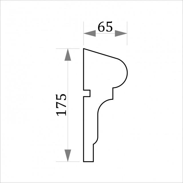 Фасадный молдинг ФТ17 Н 175х65