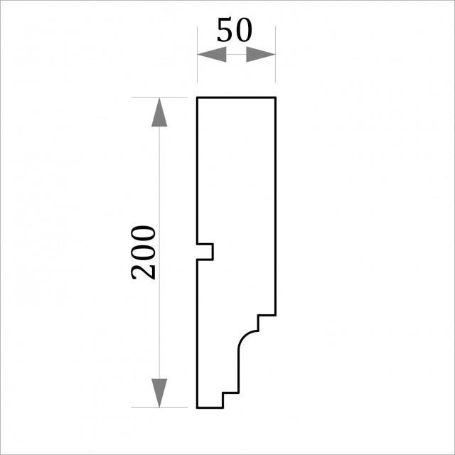 Фасадный молдинг ФТ18 Н 200х50