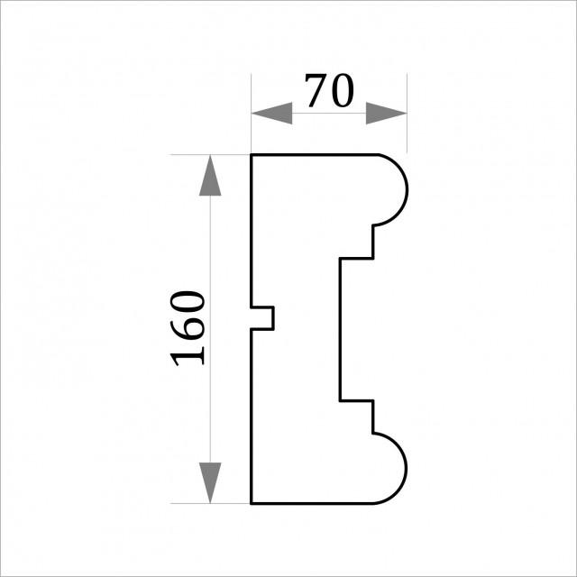 Фасадный молдинг ФТ1 Н 160х70