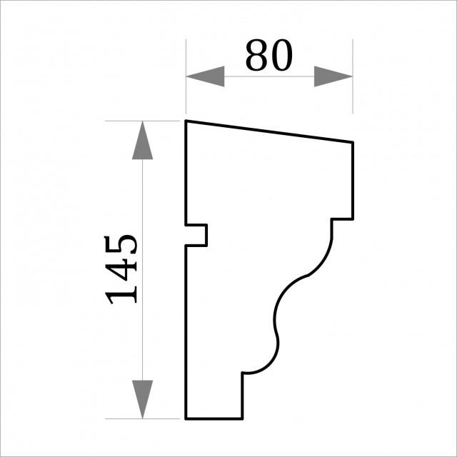 Фасадный молдинг ФТ20 Н 145х80