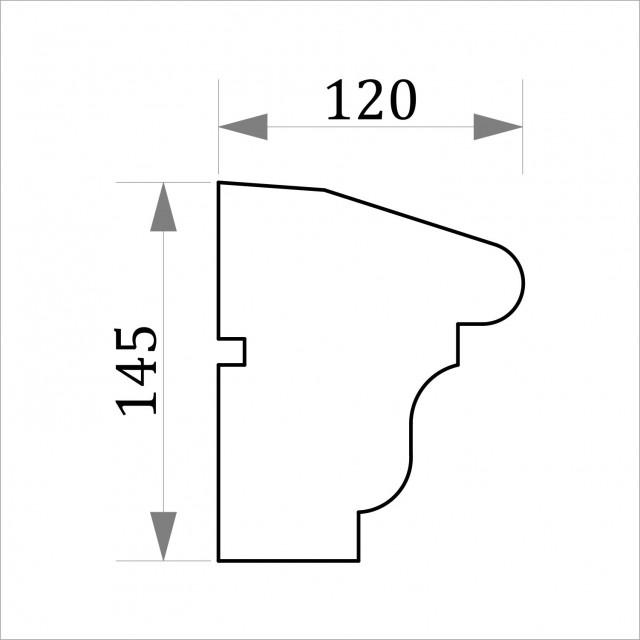 Фасадный молдинг ФТ23 Н 145х120