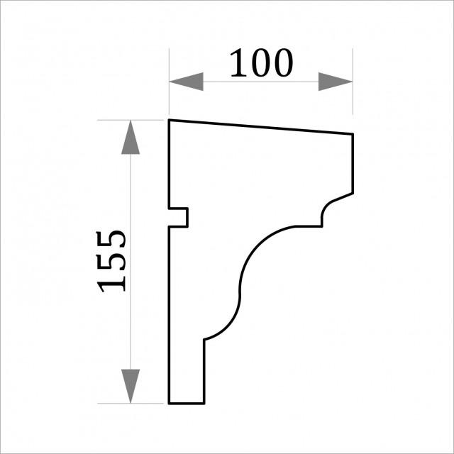 Фасадный молдинг ФТ24 Н 155х100