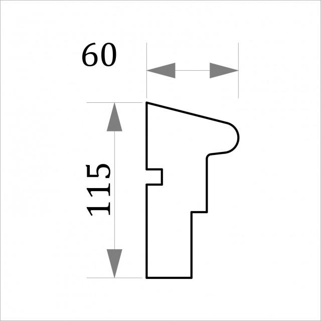 Фасадный молдинг ФТ25 Н 115х60