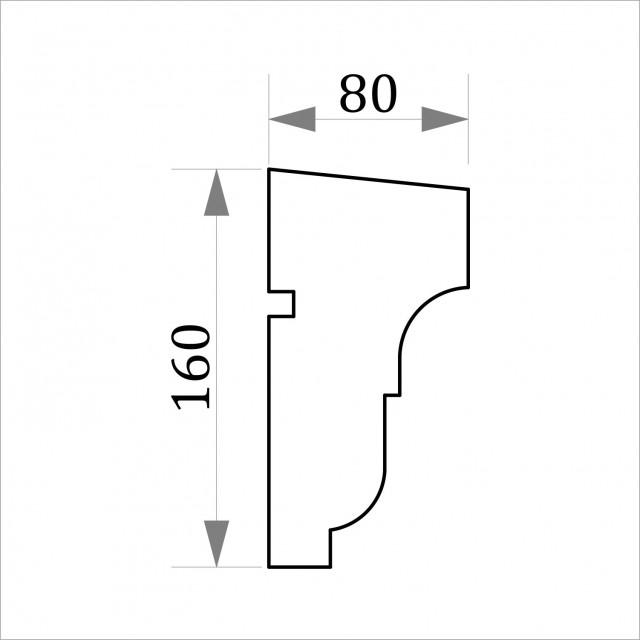 Фасадный молдинг ФТ26 Н 160х80