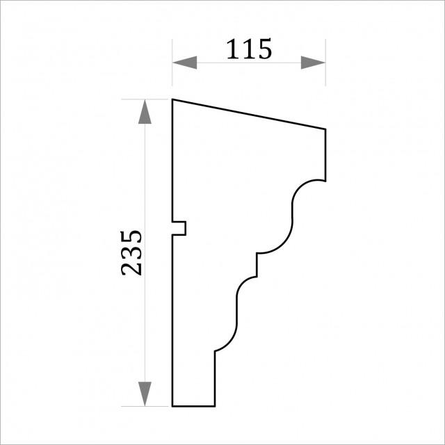 Фасадный молдинг ФТ27 Н 235х115