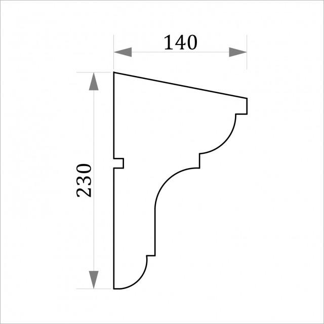 Фасадный молдинг ФТ28 Н 230х140
