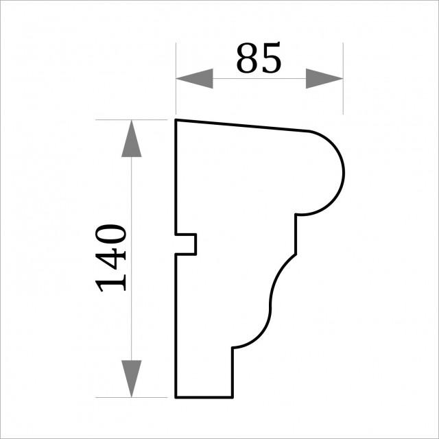 Фасадный молдинг ФТ3 Н 140х85