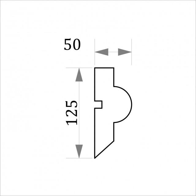 Фасадный молдинг ФТ46 Н 125х50