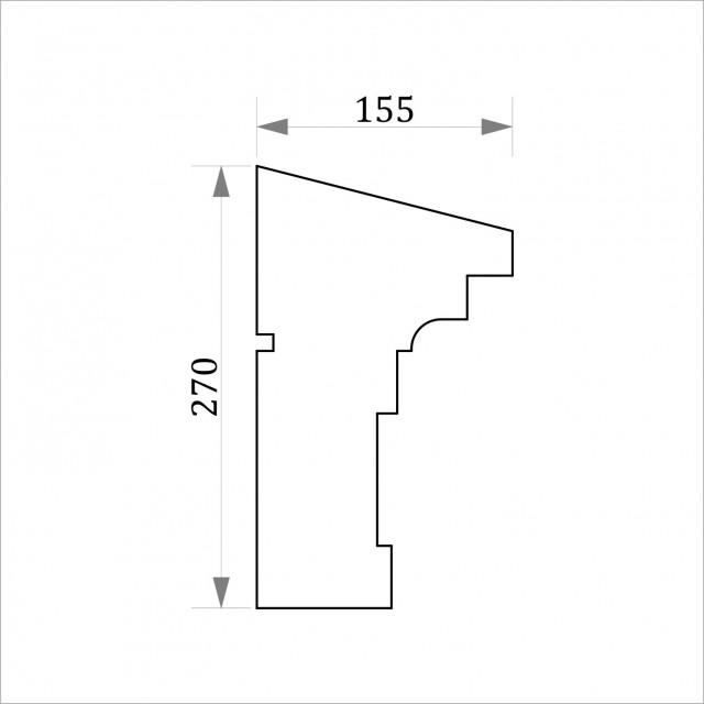 Фасадный молдинг ФТ47 Н 270х155