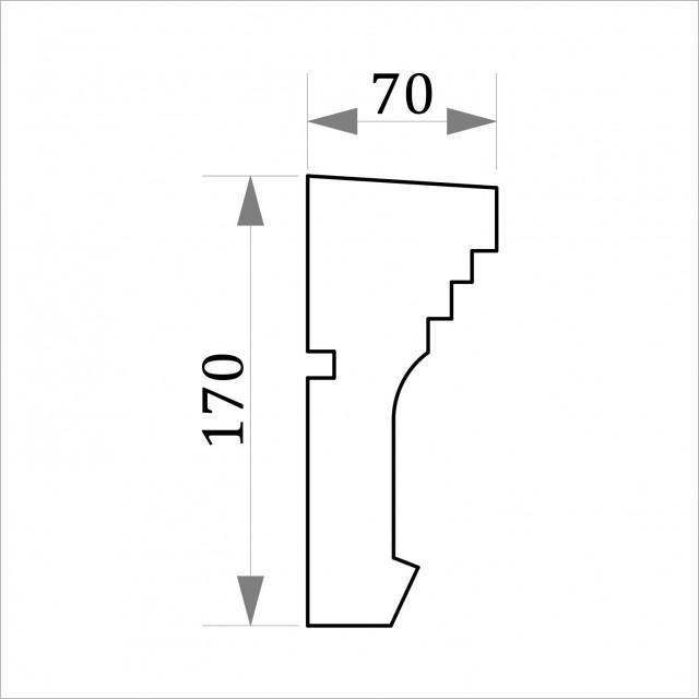 Фасадный молдинг ФТ48 Н 170х70