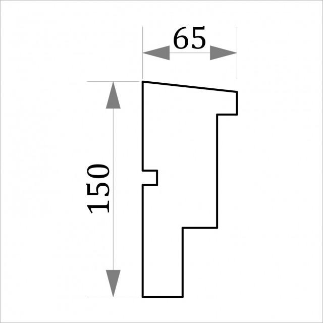 Фасадный молдинг ФТ54 Н 150х65