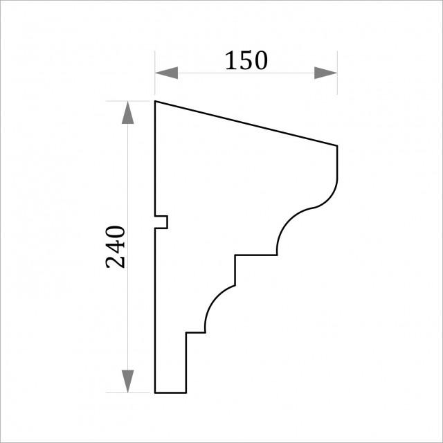 Фасадный молдинг ФТ6 Н 240х150