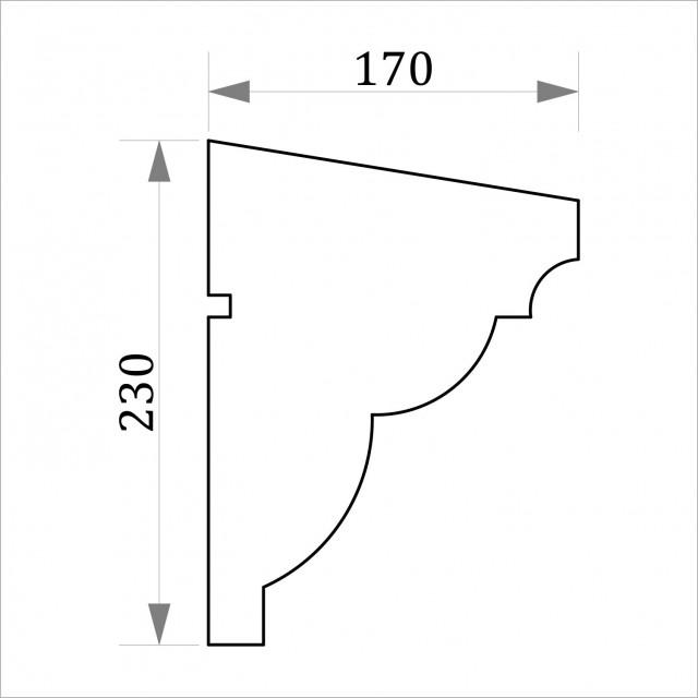 Фасадный молдинг ФТ7 Н 230х170