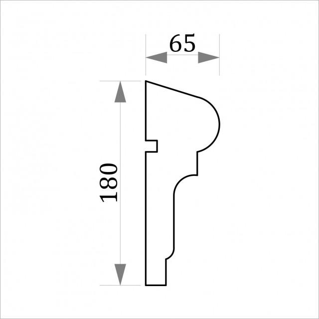 Фасадный молдинг ФТ8 Н 180х65