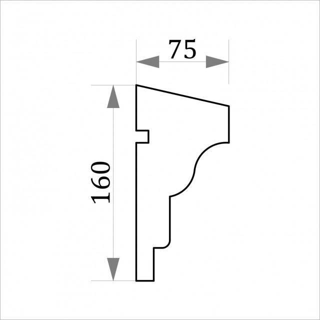 Фасадный молдинг ФТ9 Н 160х75