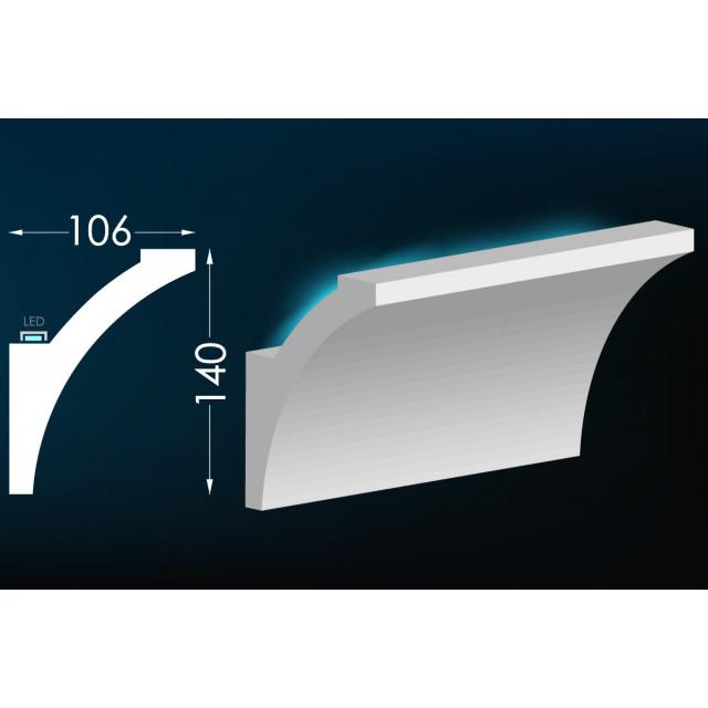 Карниз для скрытого освещения Тс-6
