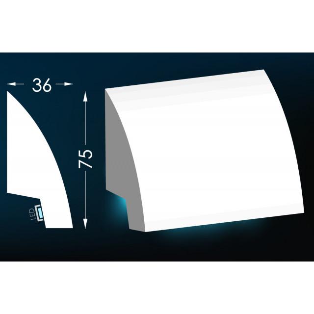 Гипсовый карниз для скрытого освещения Тс-21