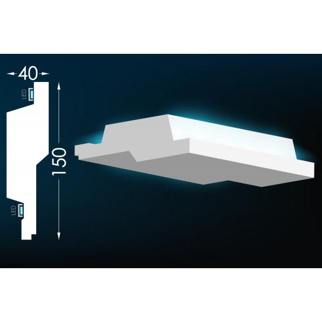 Карниз для скрытого освещения Тс-49