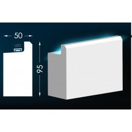 Гипсовый карниз для скрытого освещения Тс-32