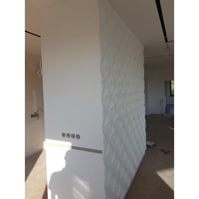 Купить гипсовые панели для стен 3D Rhombus, Харьков