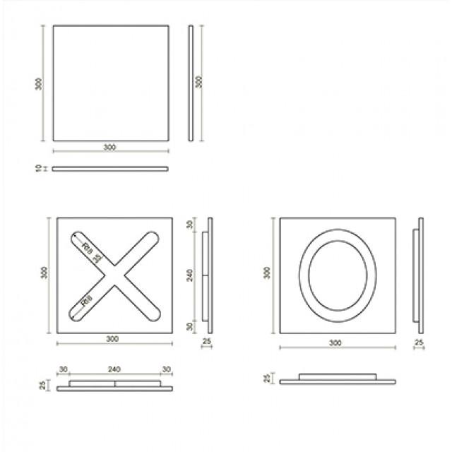 Декоративные 3D панели крестики-нолики