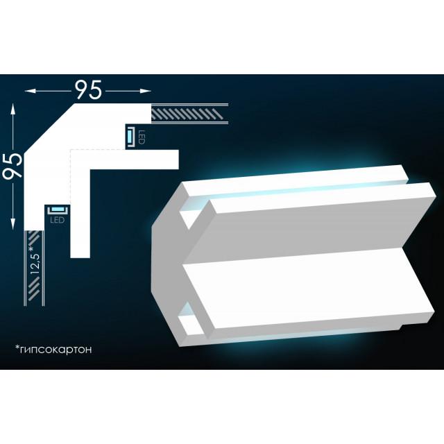 Карниз для скрытого освещения Тс-2 из гипса