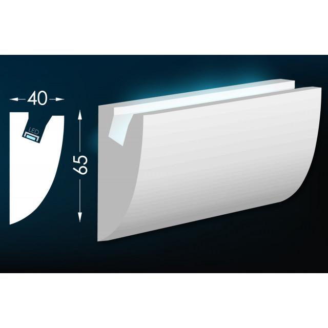 Карниз для скрытого освещения Тс-17
