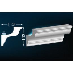 Гипсовый карниз для скрытого освещения Тс-40 (Т-339)