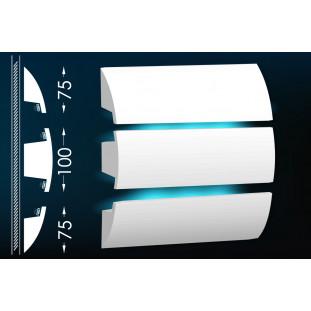 Гипсовый карниз для скрытого освещения Тс-23