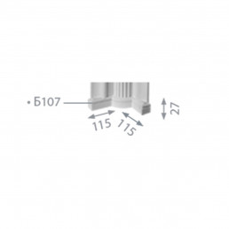 База пилястры  б-107