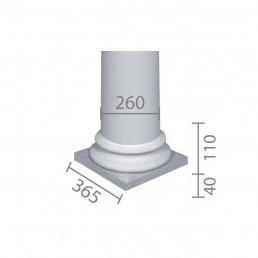 База колонны  б-66 (энтазис)
