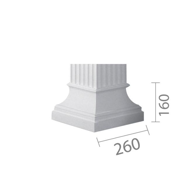 База колонны б-10 (квадратная)