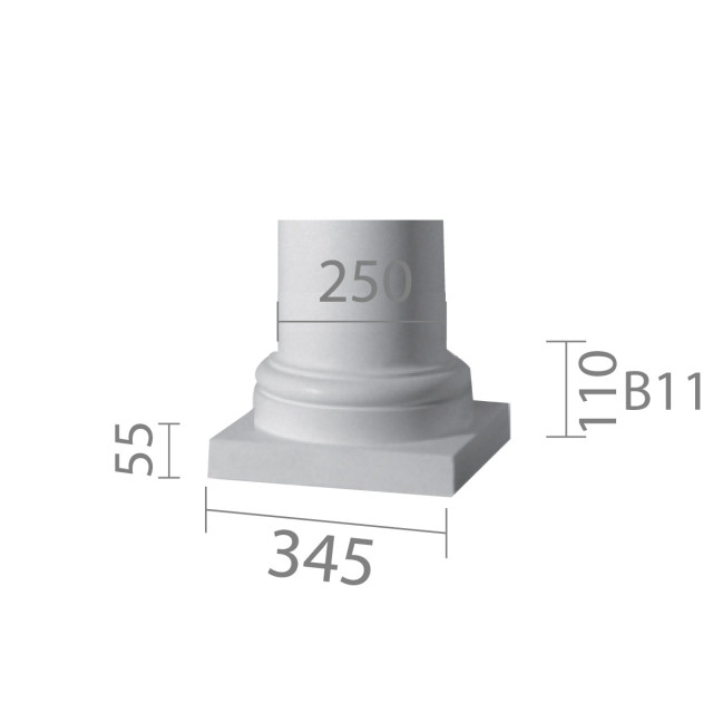 База колонны  б-11 ½ (энтазис)