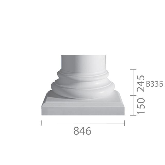 База колонны б-33 (1/2)
