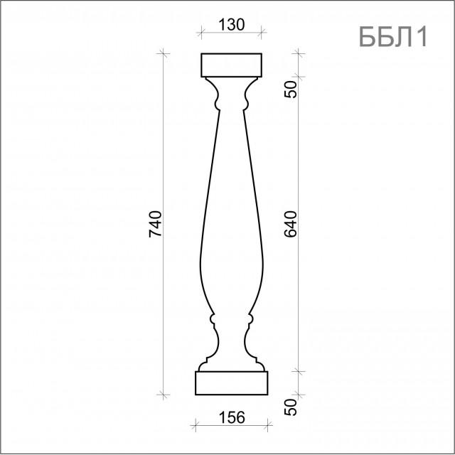 Балясина ББЛ 1(h 740 мм)