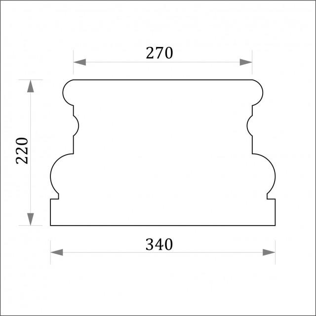 База пилястры ФБП 4 (h 220)